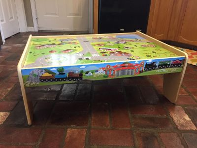 """Kids' Cars & Trains Play Table! Measures 33"""" x 23""""! GREAT Condition!"""