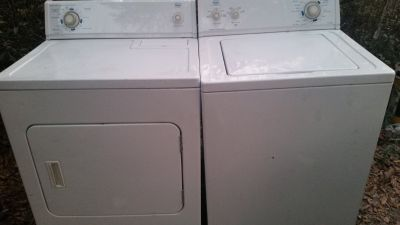 Heavy duty extra large capacity washer and dryer set