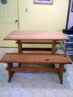 very well made solid wood picnic table