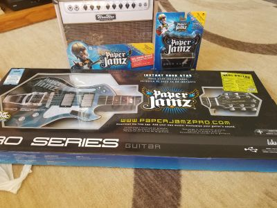 Paper Jamz Pro series guitar ,Amplifier and wall mount