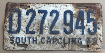 Old Rusty License plate