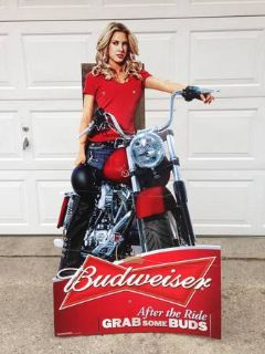 Budweiser Advertisement Sign After the Ride, Grab Some Buds