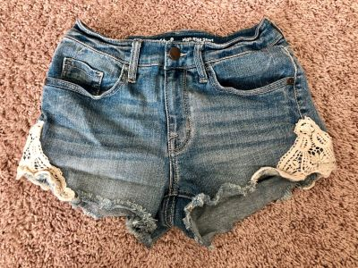 Mossimo Jean High Rise Shorts - Size 0