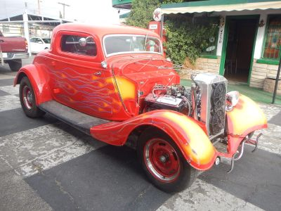 1934 FORD HOT ROD 3 WINDOW COUPE