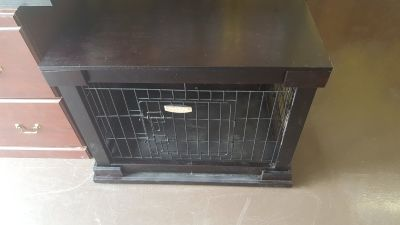 """26"""" 33"""" PetMate Wooden End Table Pet Crate Kennel"""