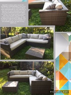 Beautiful outdoor patio couch set