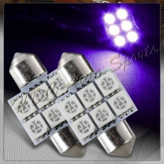 Buy 2x 31mm 6 SMD Purple LED Festoon Dome Map Glove Box Trunk Replacement Light Bulb motorcycle in Walnut, California, United States