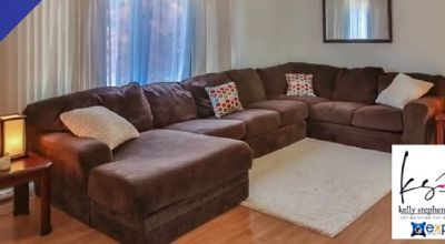 Sectional couch and ottoman