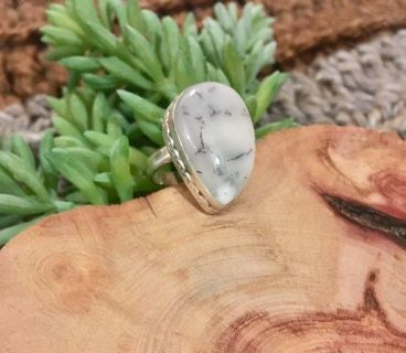 Dendrite Agate Sterling Silver Ring