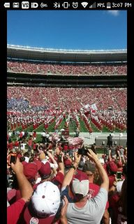 (4)Lower level behind BAMA bench 50 each