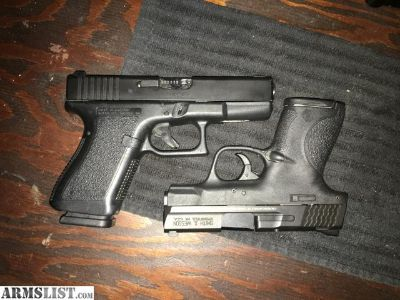 For Sale: Glock 23 chrome barrel night sights extra mags