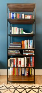 Wood and Iron Bookcase