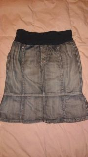 Seven for all Mankind jean maternity skirt, by Pea in the Pod. Size 31(medium baby bump)