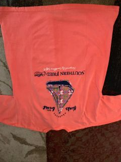 Southern Fried Cotton xl coral boat T-shirt NWT - ppu (near old chemstrand & 29) or PU @ the Marcus Pointe Thrift Store (on W st)
