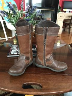 Size 12 Girls b.o.c. two/tone brown boots