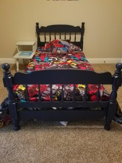 Twin bed.