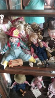 Antique doll collection many different kinds and sizes $25 to 400