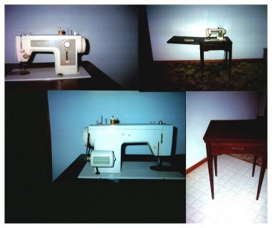 Sewing Machine With Mediterranean Cabinet