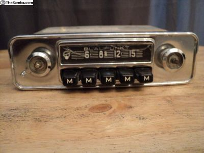 Blaupunkt car radio VW bug or ghia