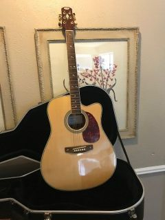 Foggy mountain Hand crafted guitar with cutout -beautiful