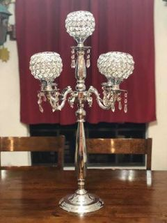 Bling candelabras and candle holders