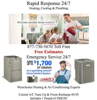 FREE EST - Affordable FREON Air Conditioning / Heating Boiler and Gas Furnace Emergency Repair - 24/7 Same Day Service FREE ESTIMATES