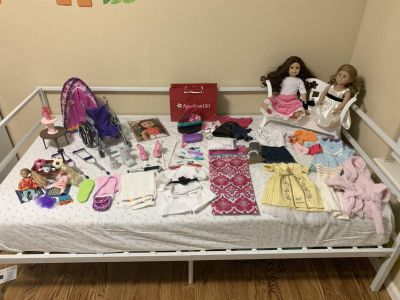 Huge American girl doll collection