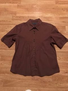 EUC Lrg Tommy Hilfiger blouse, chocolate Brown