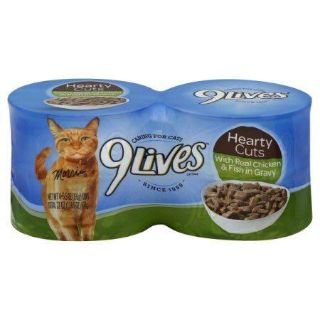 9 lives Hearty Cuts With Real Chicken & Fish in Gravy