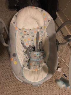 Baby swing works great. Great for traveling. EUC