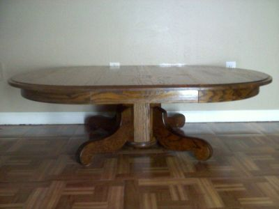 Oval Solid Oak Table