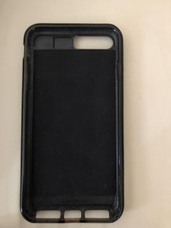 Black phone case with pocket for cards, iPhone 8plus, mechanicsville porch pickup,
