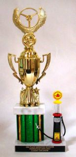 "Sell Car Show trophy 13 1/2"" with Pennzoil 1930's Gas Pump - Free Engraving motorcycle in Fullerton, California, US, for US $17.99"