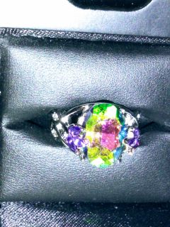 Silver amethyst ring size