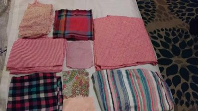 Over 3 pounds of scrap fabric great for quilting