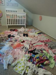 Assorted lot of 0-3mos baby girl's clothes