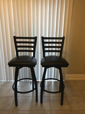 Black Swivel Bar stools