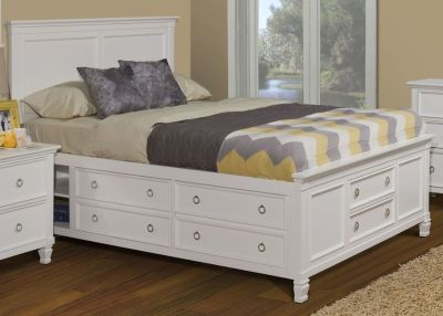 KING STORAGE BED WITH MATTRESS