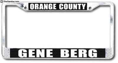 Gene Berg license plate frame GB 3011/3011B