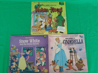 Walt Disney Story And Songs Vinal Records