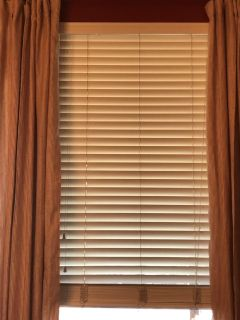 2 wood blinds - very good condition, approximately 34 3/4 x 94 - 3 available