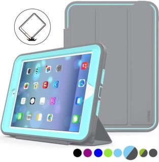 SEYMAC iPad Mini 1/2/3 Case Three Layer Heavy Duty Shock Poof Smart Cover. New - never used. Light blue and gray. $20. Cross posted.