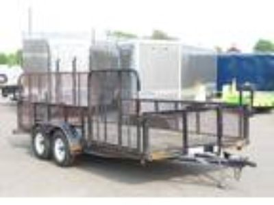 "2011 Load Trail 82""x16' Landscape Trailer With Mesh Sides!"