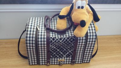Burberry inspired Pet Dog Cat Carrier