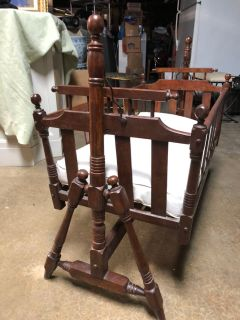 Vintage Swinging Baby Cradle