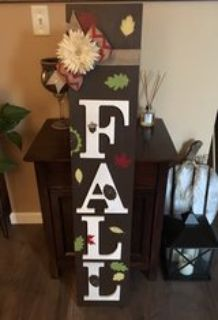 Vibrant Fall wood entryway sign-reduced!