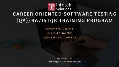 Career Oriented Software Testing, QA/BA, ISTQB Training Program