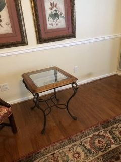 End table with swan necks