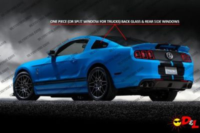 Buy Pre-cut Window Tint Kit - Rear Glass & Sides Only for ALL VEHICLES motorcycle in Parkville, Maryland, United States, for US $28.95