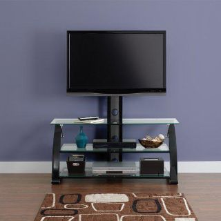 $139, Sparta Black 3-in-1 Flat Panel TV Stand for TVs up to 55